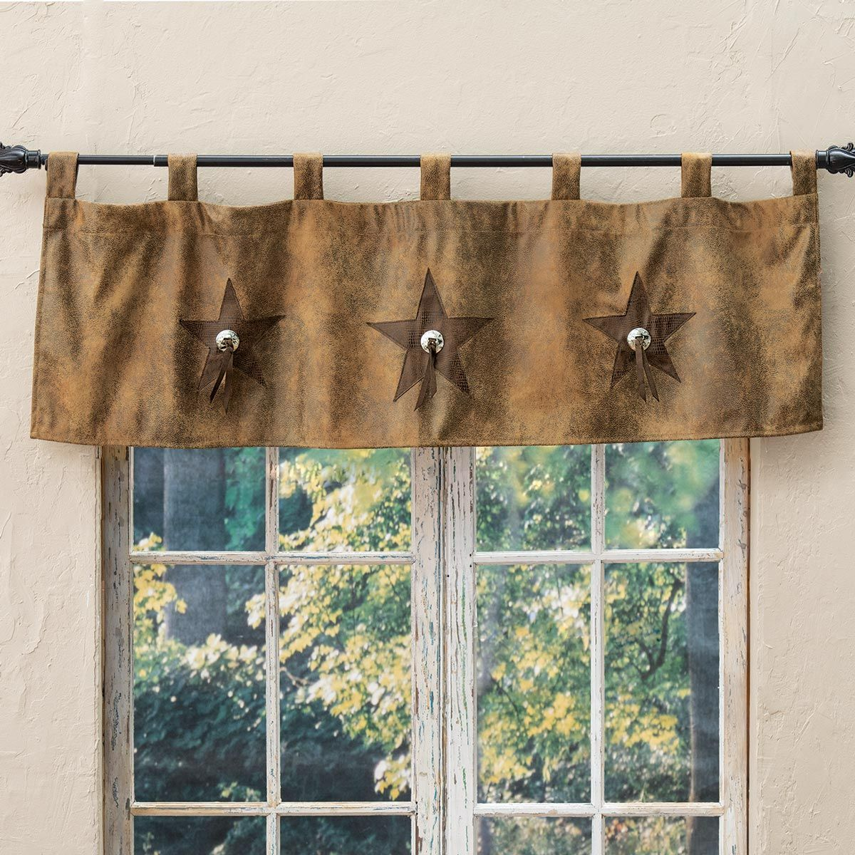 Star & Concho Embroidered Valance