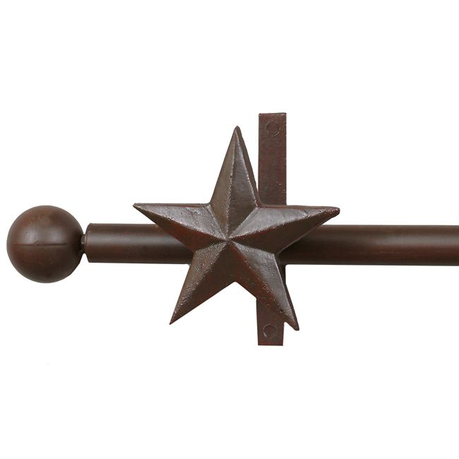 Star Curtain Rod & Rod Holders