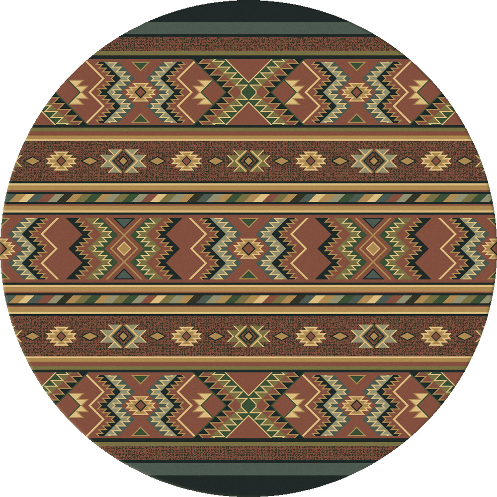 Star Eagle Adobe Rug - 8 Ft. Round