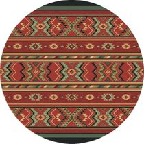 Star Eagle Terracotta Rug - 8 Ft. Round