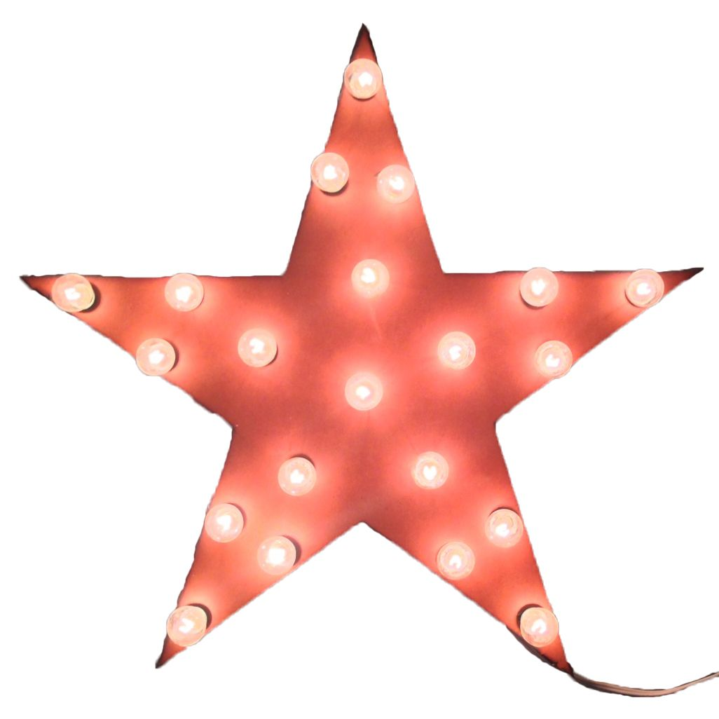Star Lighted Marquee Sign