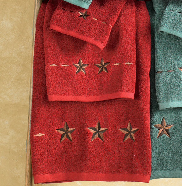 Star Red Towel Set (3 pcs)