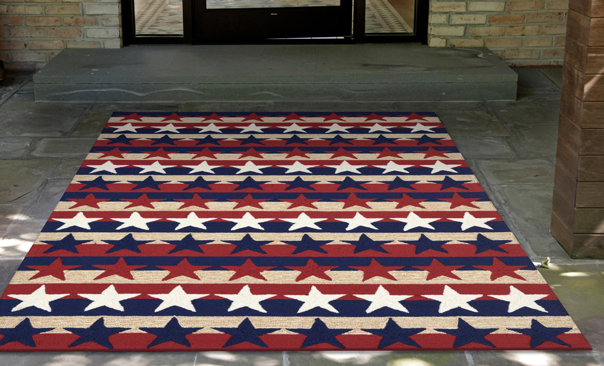 Star Spangled Indoor/Outdoor Rug - 3 x 4