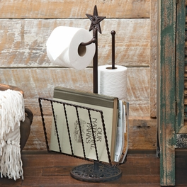 Star Toilet Paper & Magazine Rack