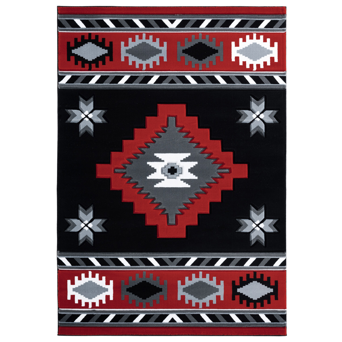 Star Vision Red Rug - 3 x 8