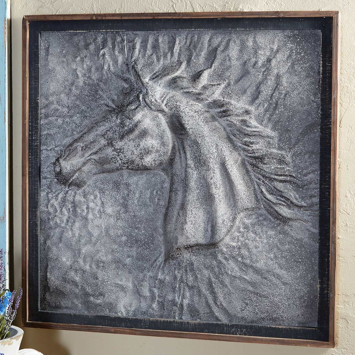 Starburst Horse Embossed Framed Art