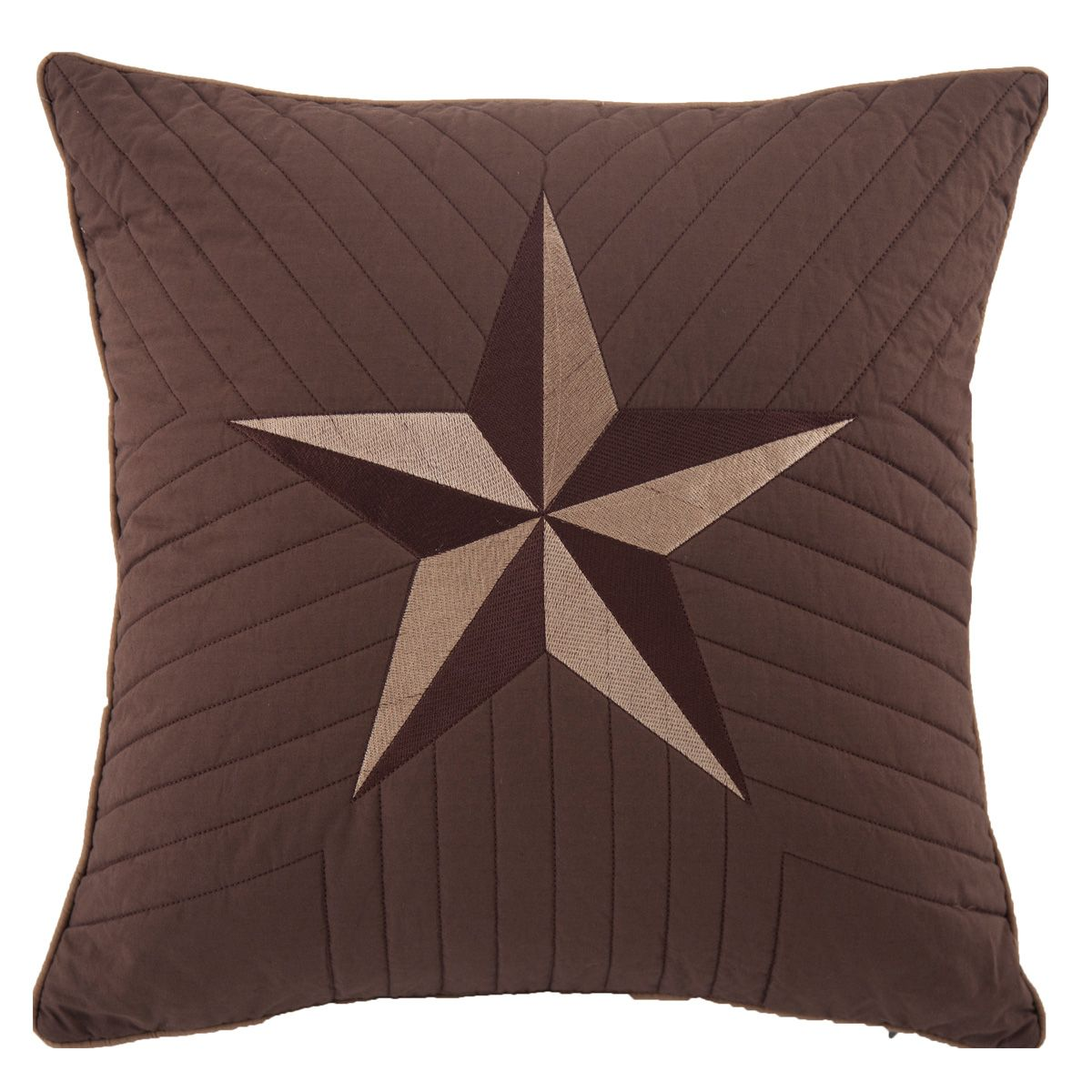 Stars and Plaid Quilted Pillow