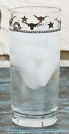 Stars & Longhorns Water Glasses - Set of 4