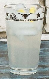 Stars & Longhorns Iced Tea Glasses - Set of 4