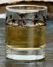 Stars & Longhorns Texas Shot Glasses - Set of 4