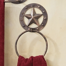 Stars & Studs Metal Towel Ring