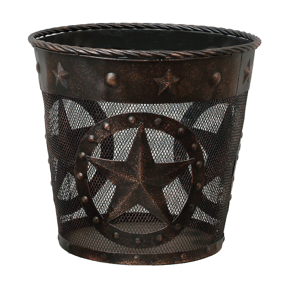 Stars & Studs Metal Waste Basket