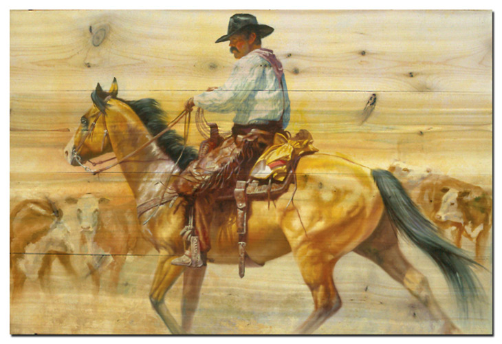 Steppin' Out Cowboy Wall Art