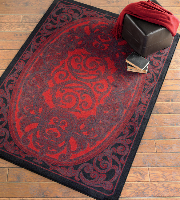 Sterling Red Rug - 5 x 8