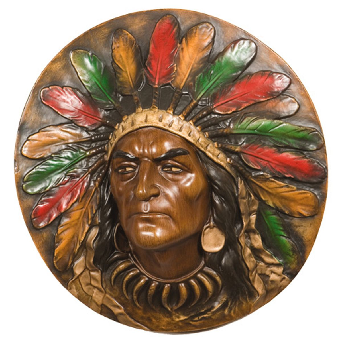 Stoic Chief Wall Plaque