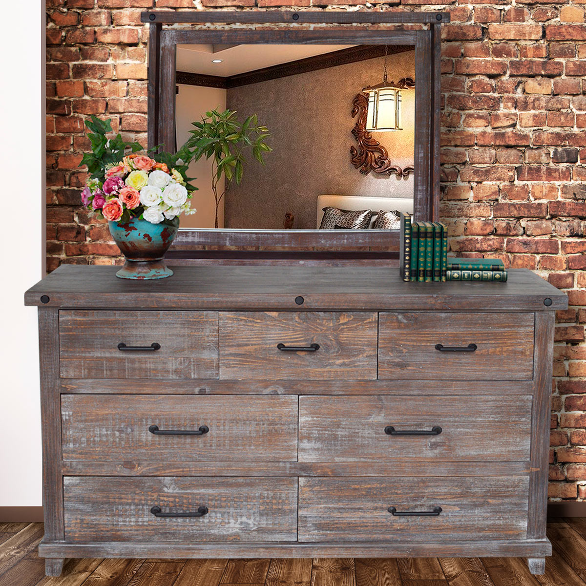 Stone Creek Dresser with Mirror