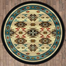 Storm Clouds Rug - 8 Ft. Round
