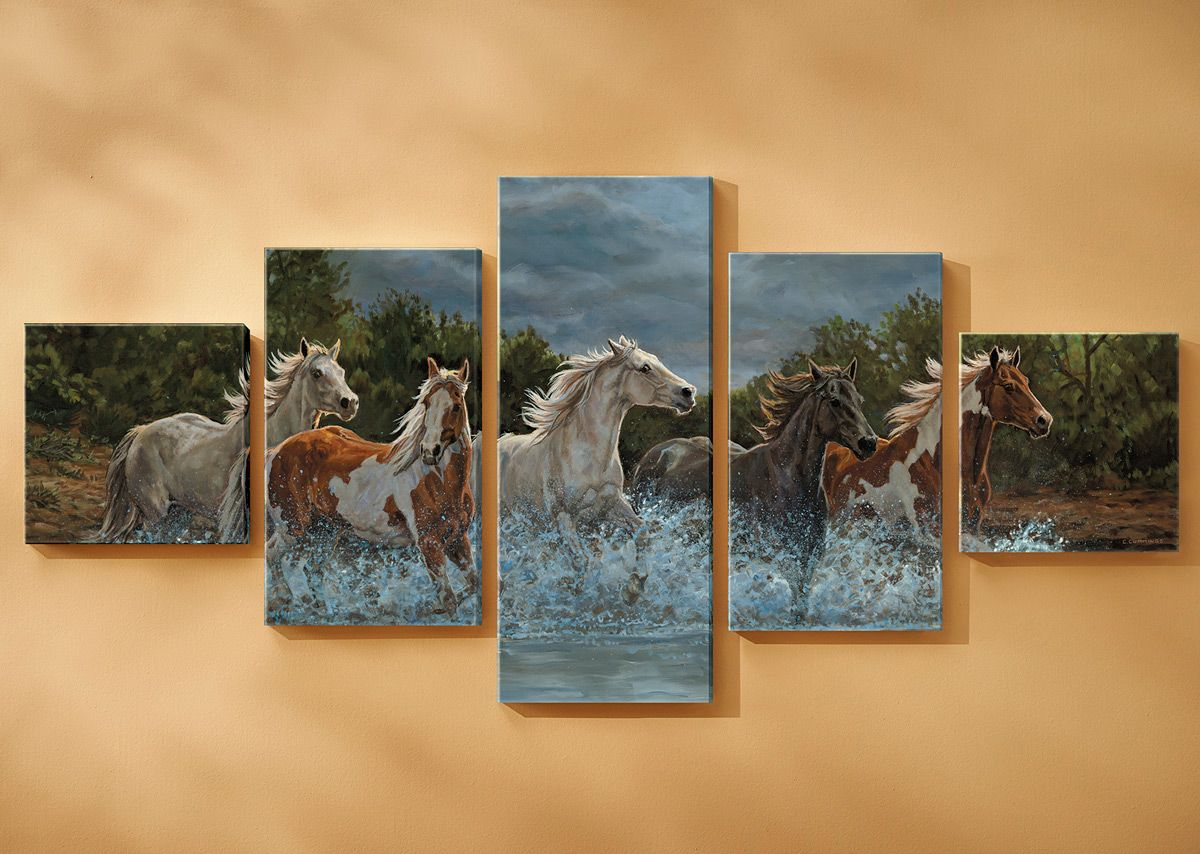 Storm Crossing Wrapped Canvases - Set of 5