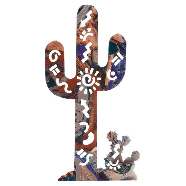 Story Cactus Metal Wall Art