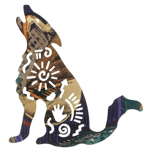 Story Coyote Metal Wall Art - 12 Inch
