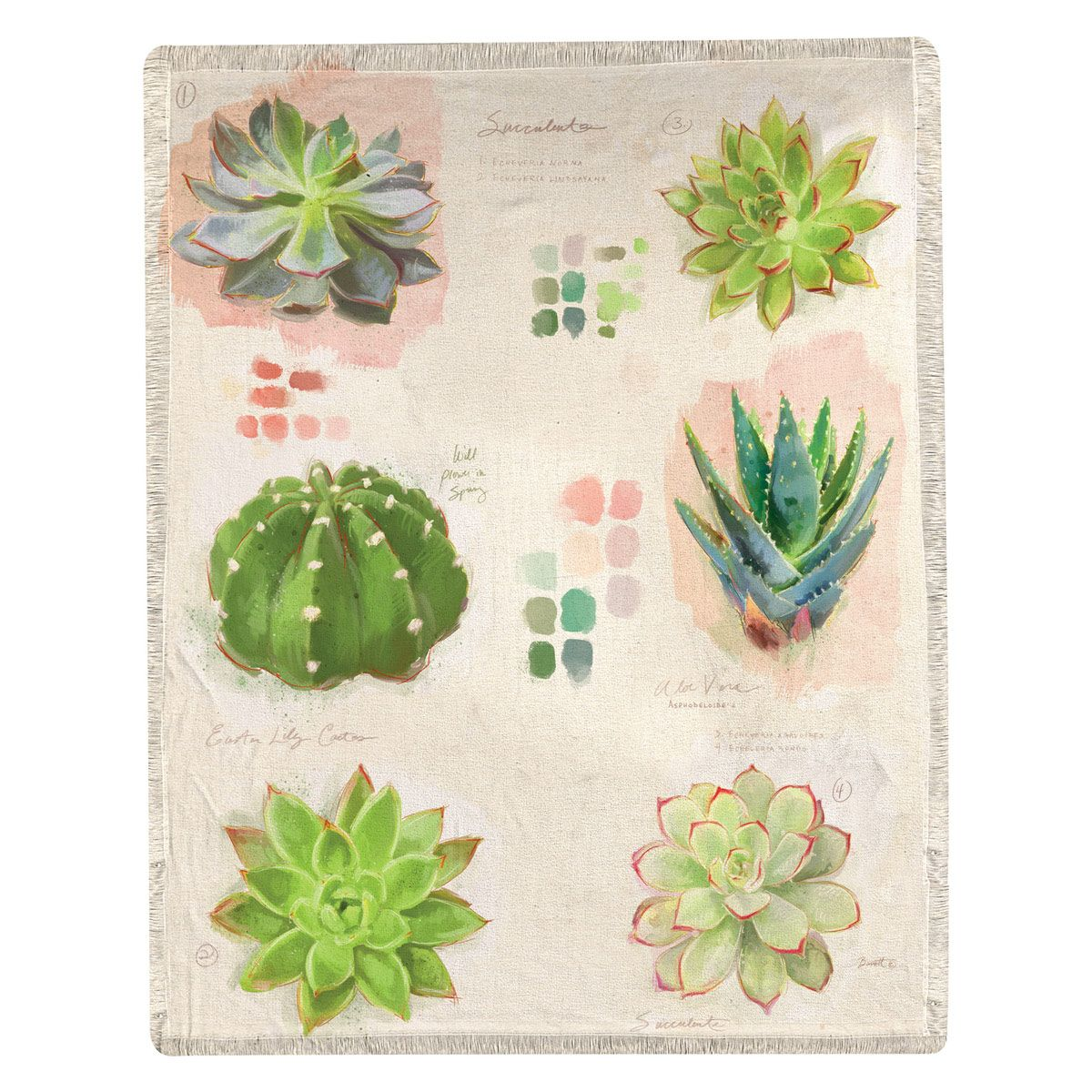 Succulent Collection Throw