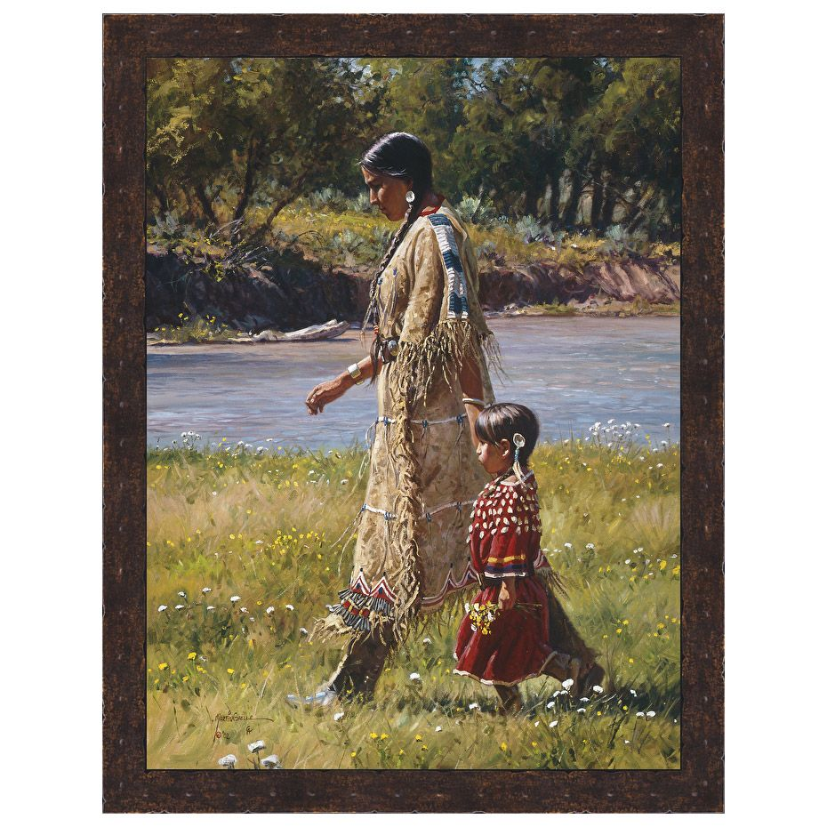 Summer on the Greasy Grass Canvas - Bronze Rivet Frame