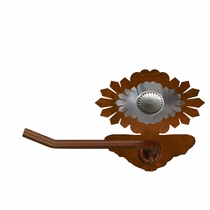 Sun Burst Concho Toilet Paper Holder - Rust