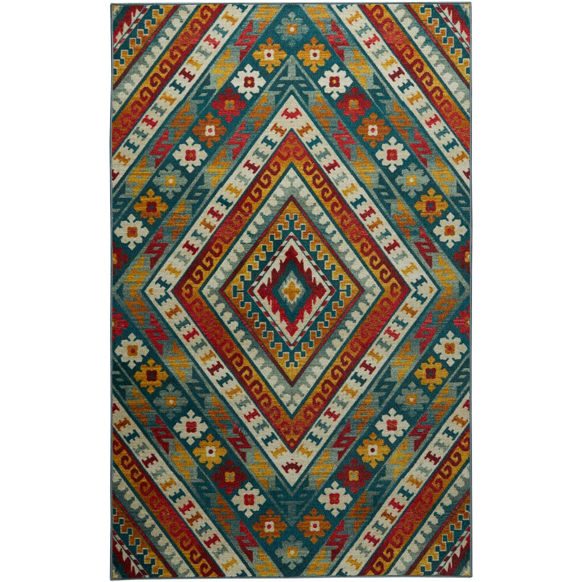 Sun Diamonds Red Rug - 5 x 8