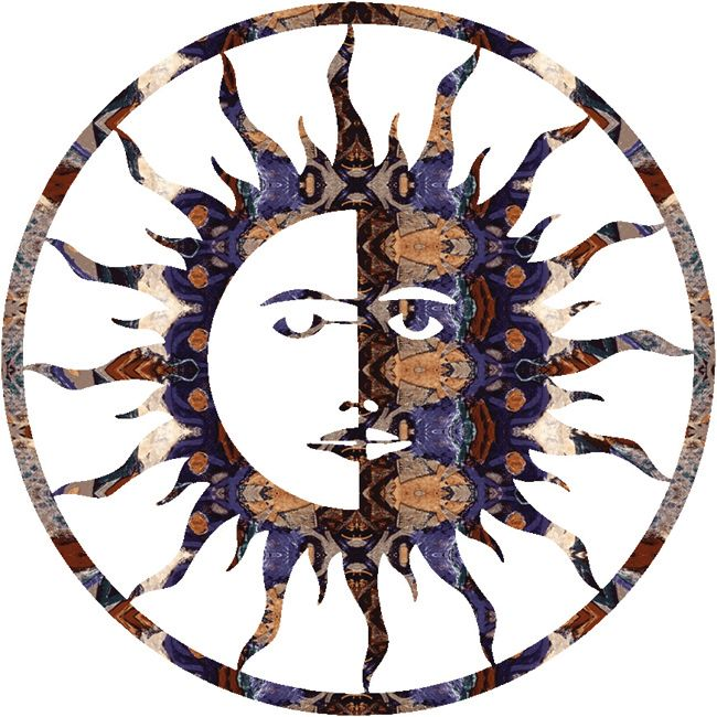 Sun Moon Wall Hanging - 24 Inch