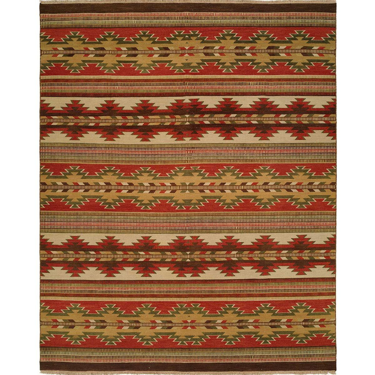 Sunburst Bands Rug - 4 x 8
