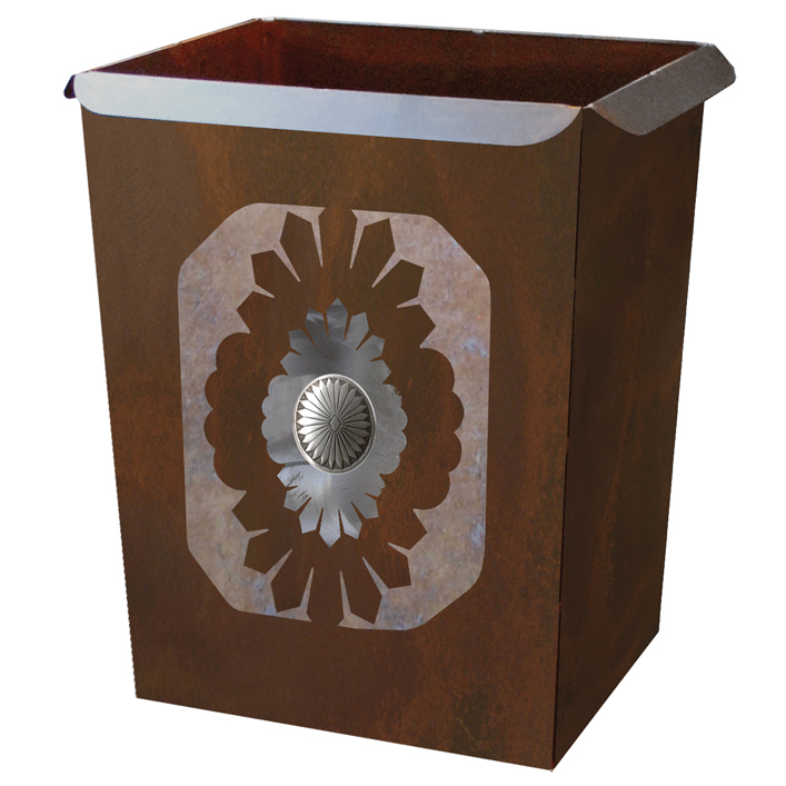 Sunburst Concho Waste Basket