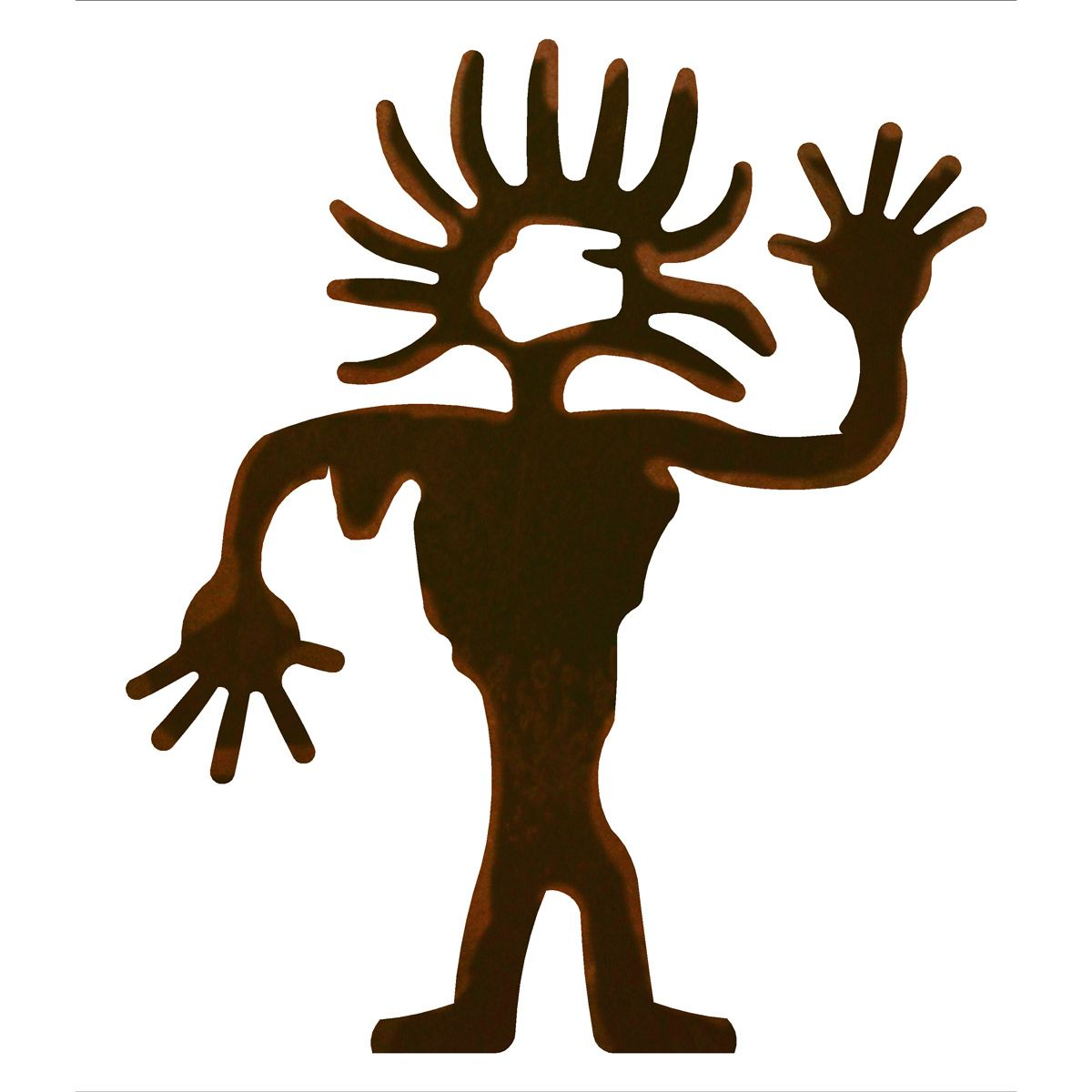 Sunhead Man Metal Wall Art