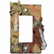 Sunrise Horses Rocker Plate