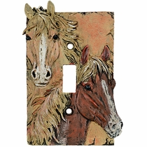 Sunrise Horses Single Switch Cover