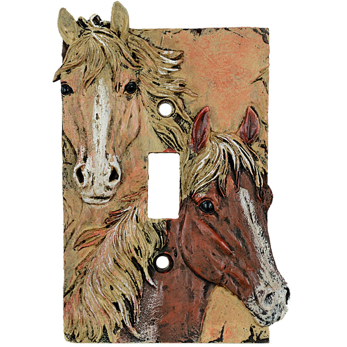 Sunrise Horses Single Switch Cover - BACKORDERED Until 5/28/2021
