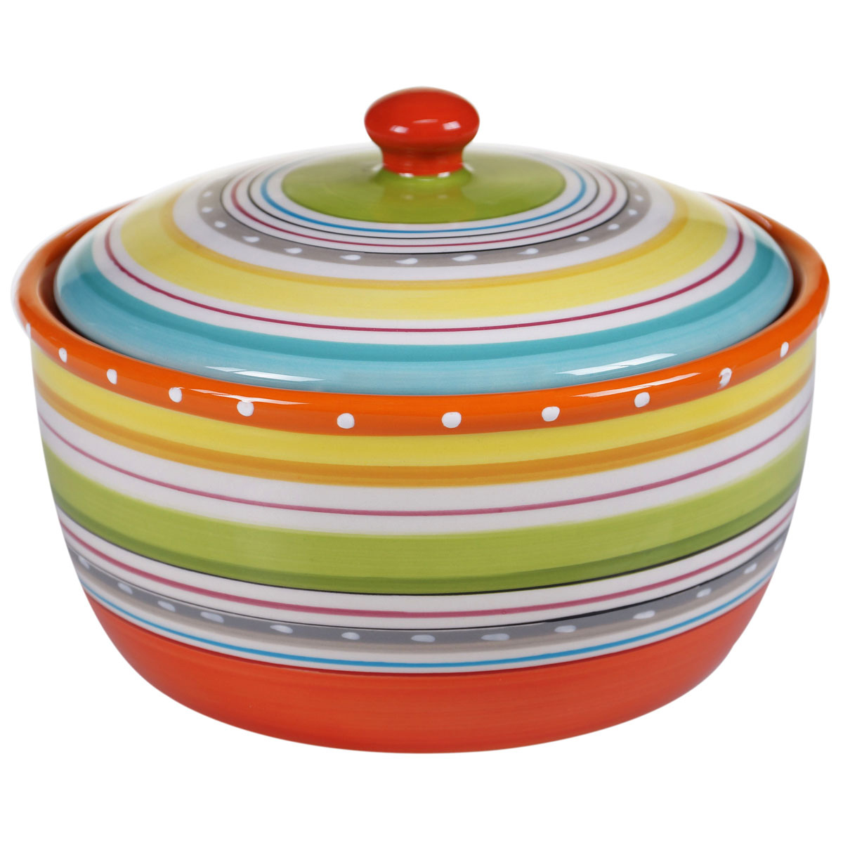 Sunrise Stripes Bean Pot