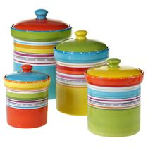 Sunrise Stripes Canister Set - 4 pc