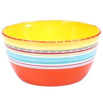 Sunrise Stripes Deep Bowl