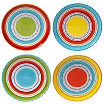 Sunrise Stripes Dinner Plates - Set of 4