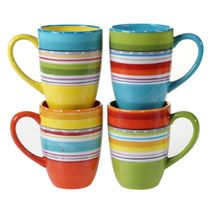 Sunrise Stripes Mugs - Set of 4