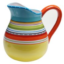 Sunrise Stripes Pitcher