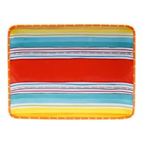 Sunrise Stripes Rectangular Platter