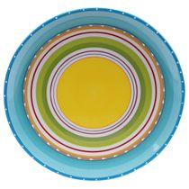 Sunrise Stripes Round Platter
