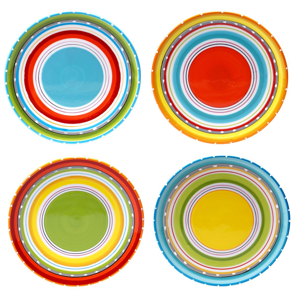 Sunrise Stripes Salad Plates - Set of 4