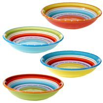 Sunrise Stripes Soup / Pasta Bowls - Set of 4