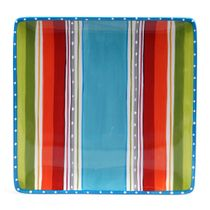 Sunrise Stripes Square Platter
