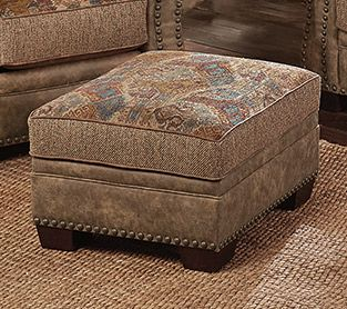 Pleasant Sunset Canyon Southwestern Storage Ottoman Alphanode Cool Chair Designs And Ideas Alphanodeonline