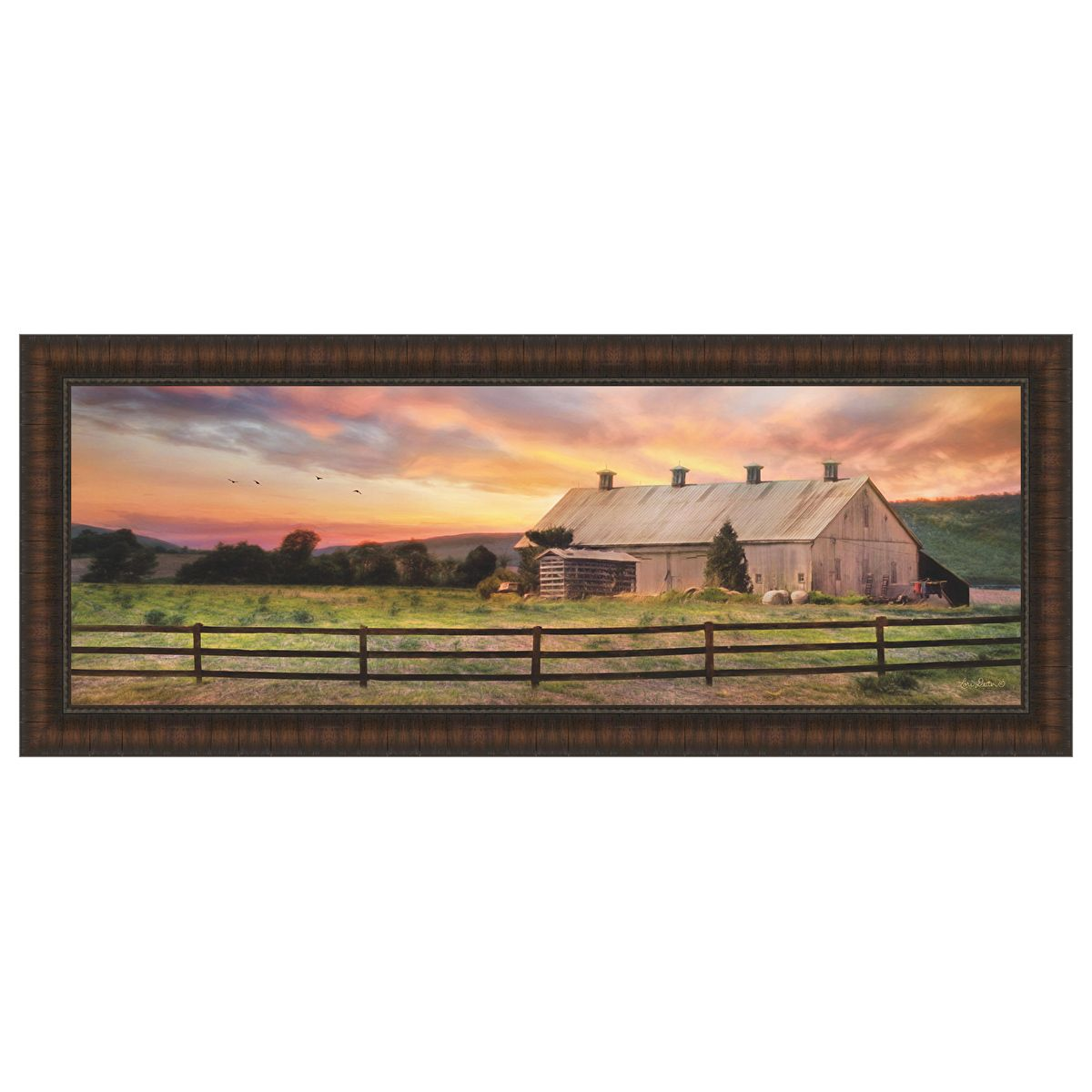 Sunset in the Valley Framed Print