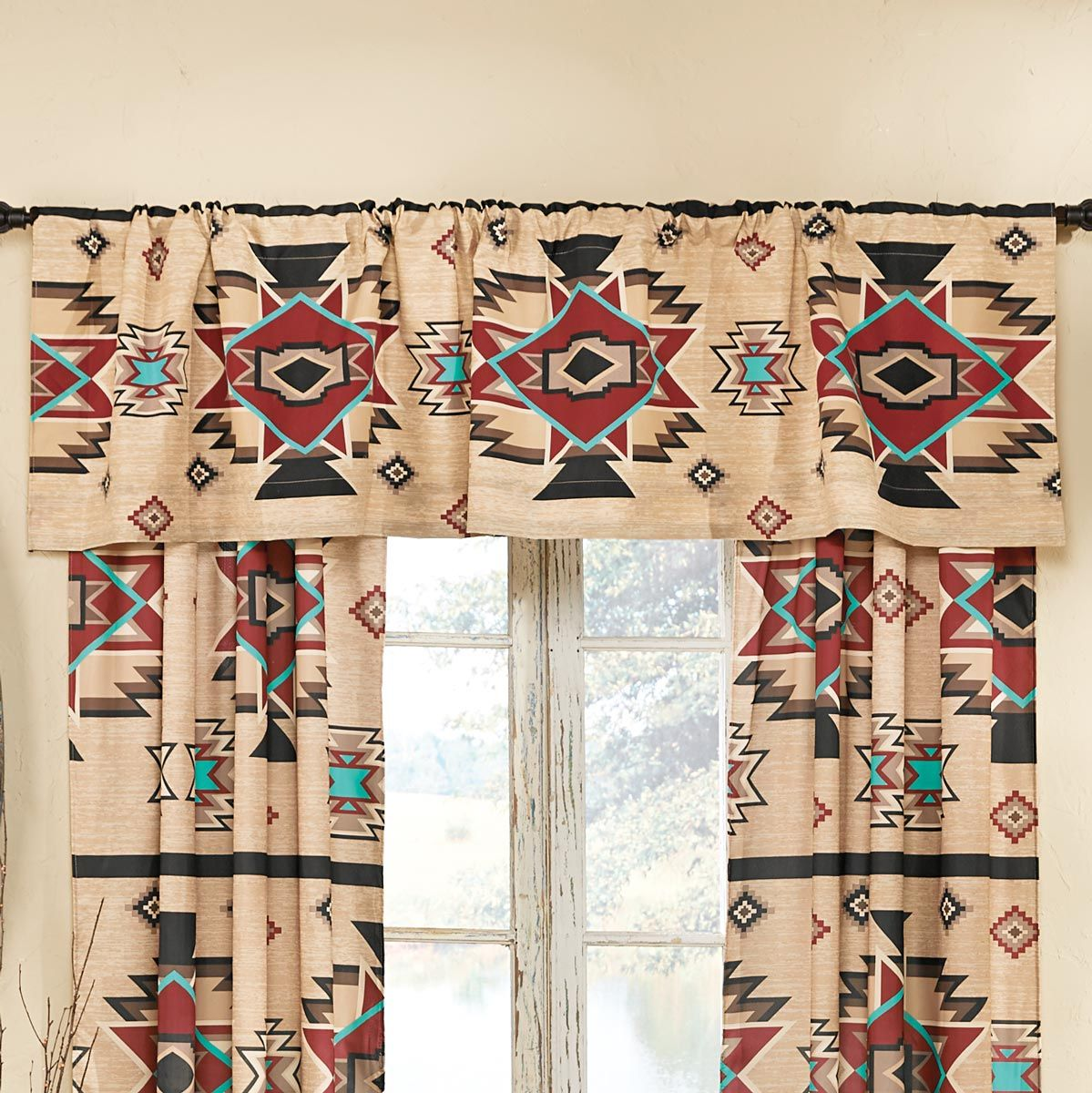 Sunset Trail Lined Valance