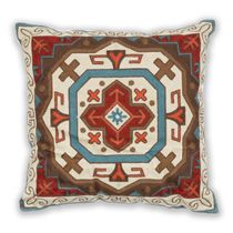 Sunset Vista Embroidered Southwest Shield Pillow